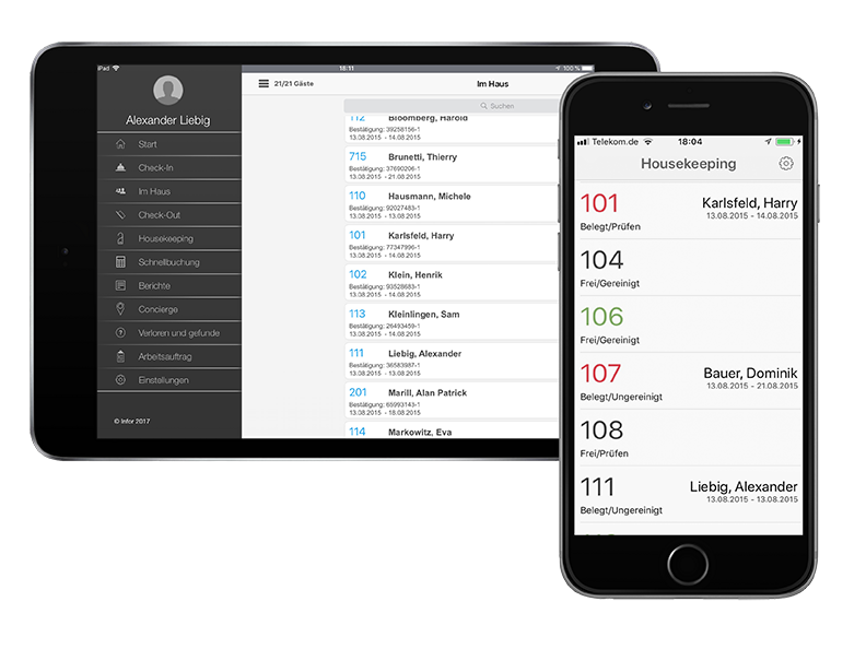 Mobile Hotelsoftware Lösung Infor HMS