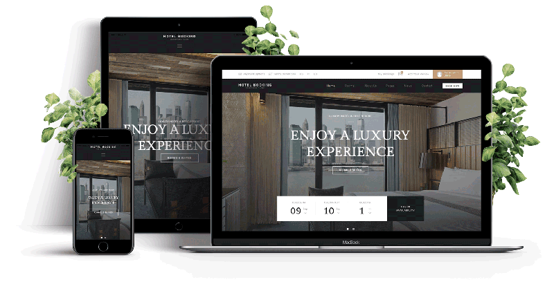 Hotel Webseiten responsive Moc-up